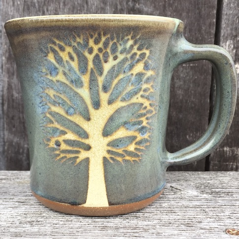 Green Tree Mug Medium